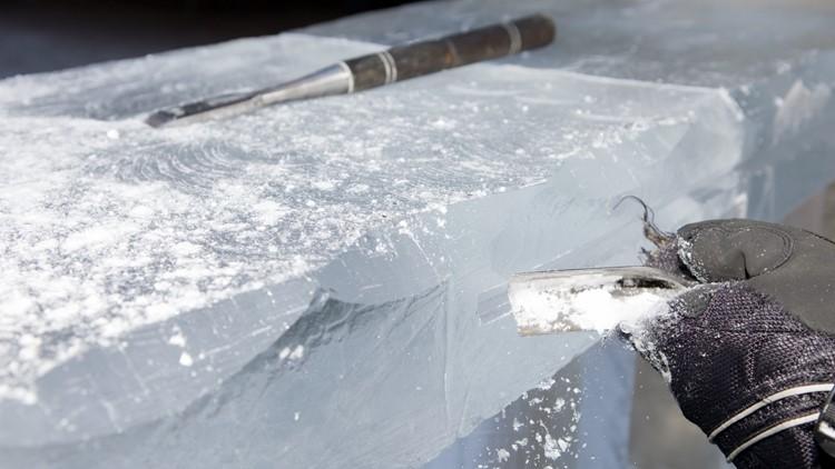 ice carving Cripple Creek Ice Festival sculpting