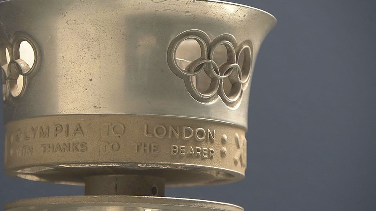 Collection of Olympic Torches.