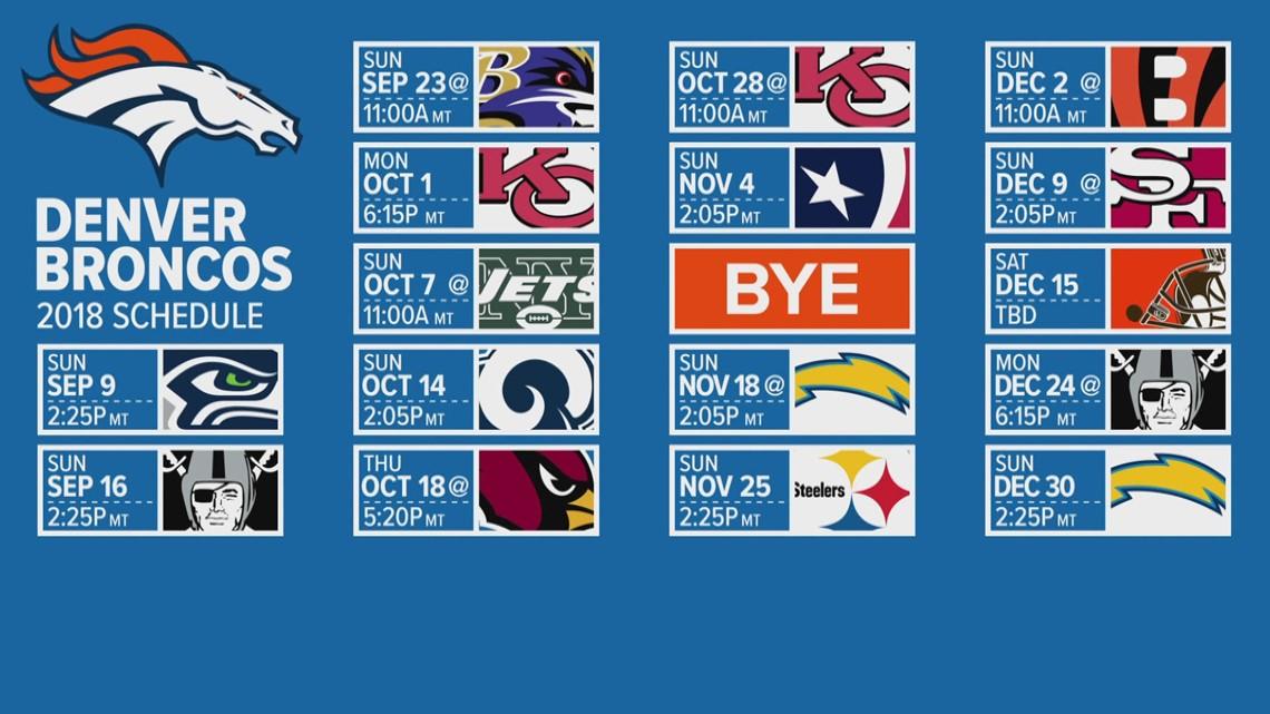 Optimum Tv Schedule >> Vance Joseph talks the Broncos 2018 schedule | 9news.com