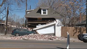 Car slams into home in Denver's Highlands neighborhood