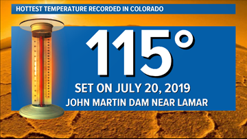 Colorado officially sets hottest temperature of all time