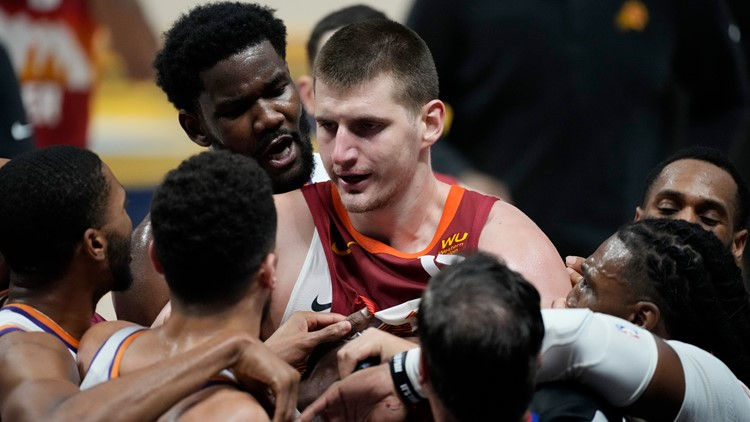 MVP Nikola Jokić ejected in Game 4 loss, Nuggets swept by Suns