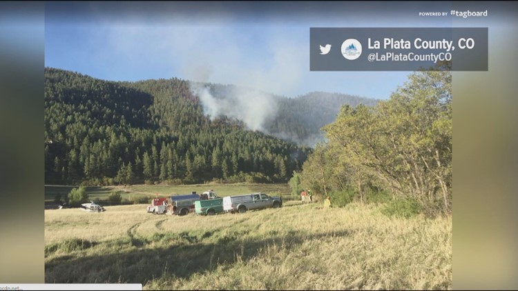 The 358 Fire in La Plata County was sparked by shooting at a private range NE of Durango.