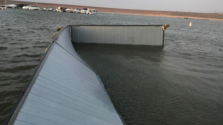 Chatfield boat dock wind