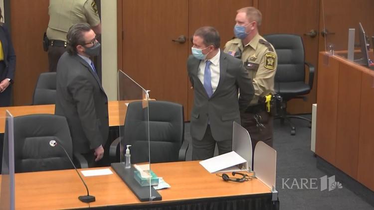 Esposan a Derek Chauvin después de ser declarado culpable de la muerte de George Floyd