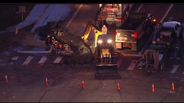 Water main break shuts down portion of Arapahoe Road