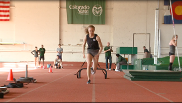 Marybeth Sant lighting up the track for Colorado State
