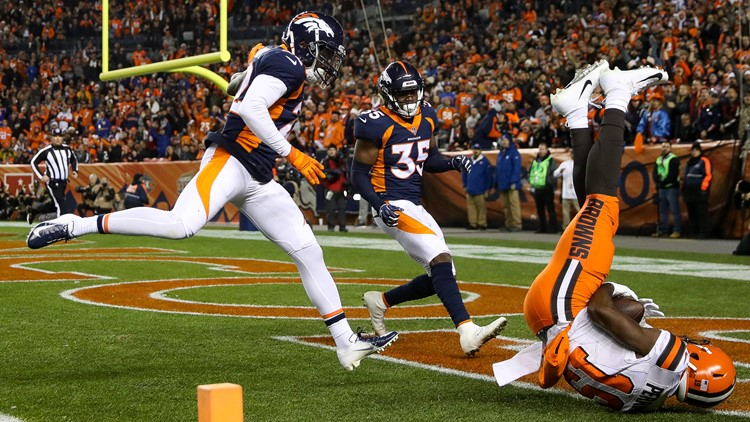 Browns defeat cornerback-depleted Broncos, 17-16