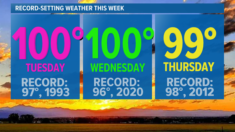 Denver hits 101 degrees Tuesday, city's earliest 100-degree reading since 2013