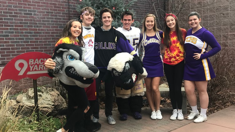 Fort Collins and Rocky Mountain high school students visit 9NEWS for the 9Preps Mascot Challenge