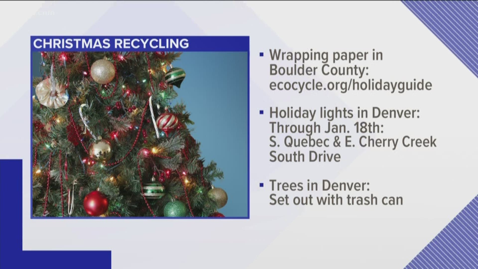 80129 Trash Pickup Christmas 2021 How To Recycle Wrapping Paper In Colorado 9news Com