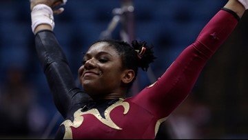 No. 7 DU's Lynnzee Brown scores perfect 10.0 in front of record-setting crowd