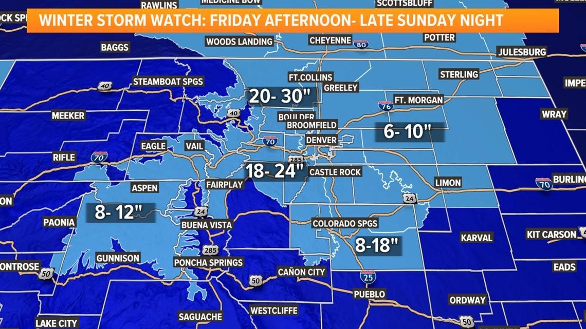5 cosas que necesitas saber sobre la tormenta invernal que se dirige a Colorado este fin de semana
