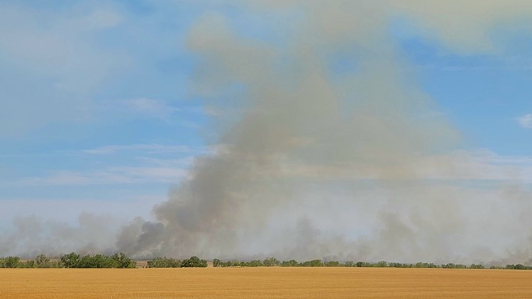 Large grass fire near Wiggins declared out