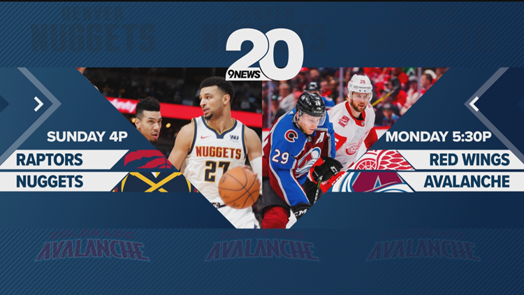 Nuggets Raptors Avs Red Wings KTVD Channel 20