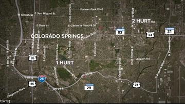 3 injured in 2 separate shootings in Colorado Springs