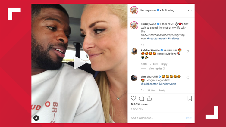 Lindsey Vonn, P.K. Subban announce their engagement in hilarious Instagram posts