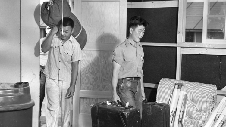 Camp Amache internees arrive in 1942