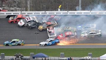 Johnson triggers wreck, then wins Clash at Daytona