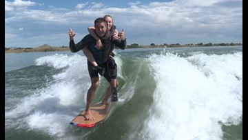 Adaptive Athletes surf through Boulder Reservoir