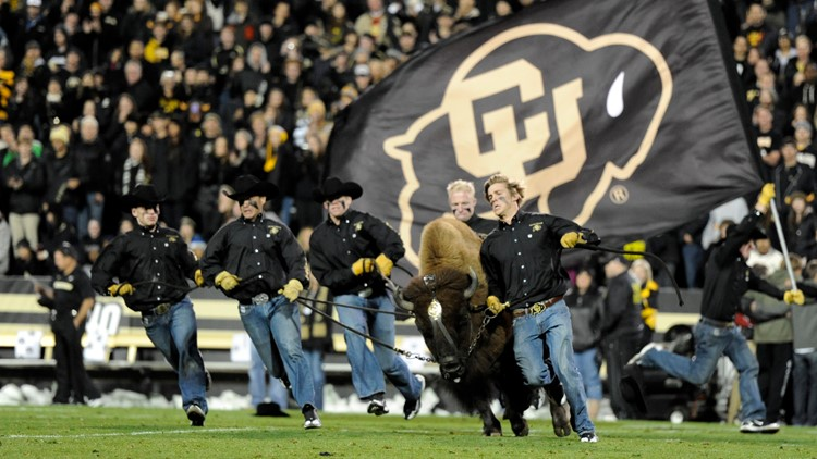 Colorado and USC blackout folsom field CU football ralphie