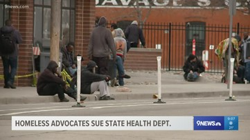 Advocates for Colorado's homeless sue state's health department