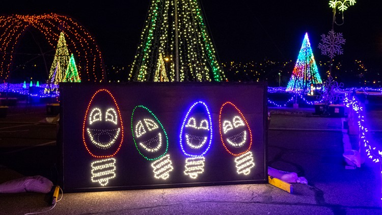 Christmas in Color is a mile-long, drive-through light display in the Water World parking lot in Federal Heights