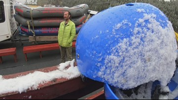 Late mountain snow means late start for the Colorado river rafting season