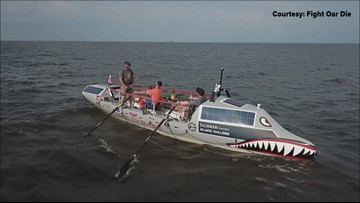 Team of veterans prepare to row across Atlantic Ocean to raise awareness for mental health