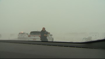 It took the 9NEWS crew covering the blizzard 2.5 hours to get to DIA