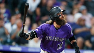 Blackmon hits 2 HRs, Gray Ks 10 as Rockies beat Padres 9-6