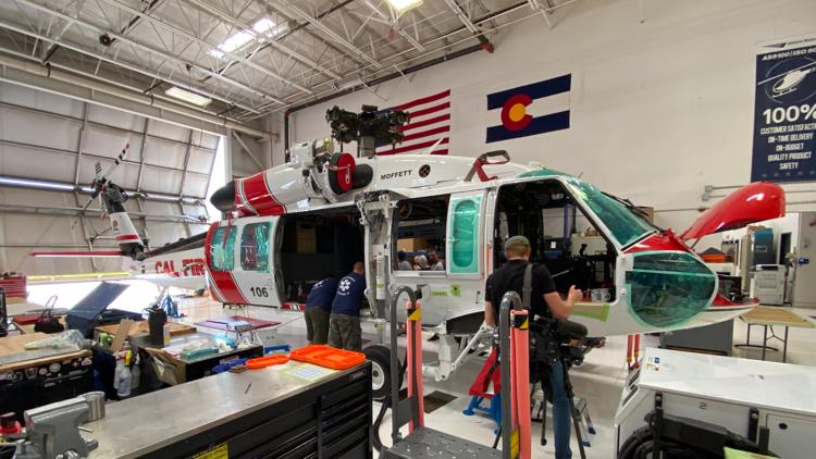 'We are saving lives': Colorado facility converts Black Hawk helicopters into firefighting aircraft