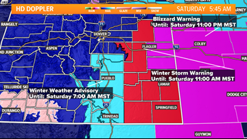 LIVE RADAR | Blowing snow over Eastern Plains, clearing skies for Front Range