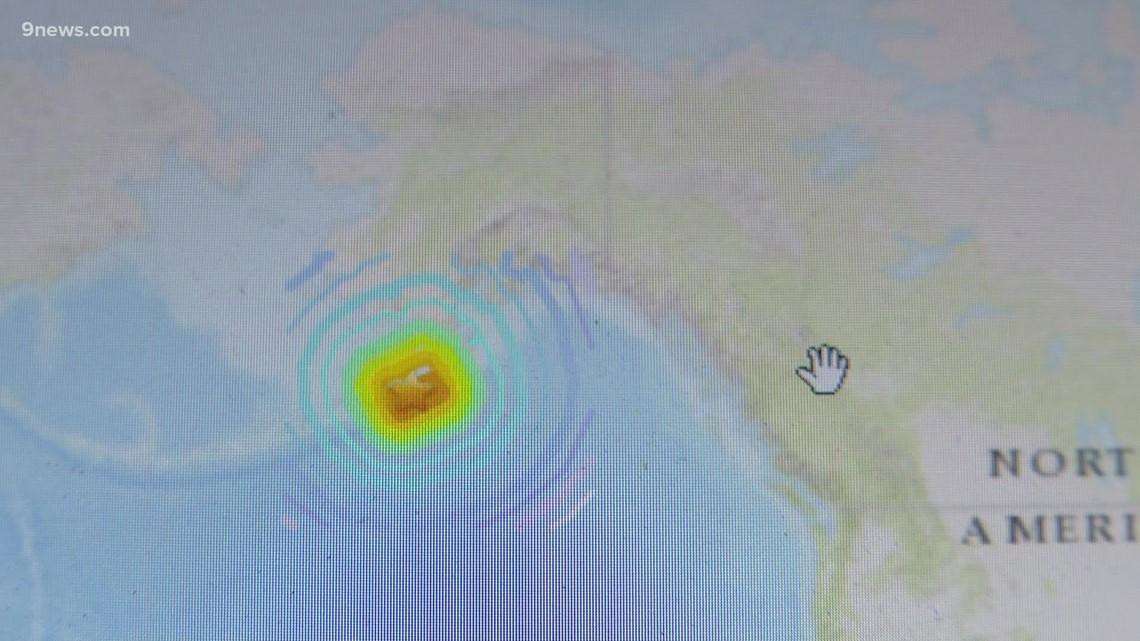 Earthquake in Alaska detected in Colorado