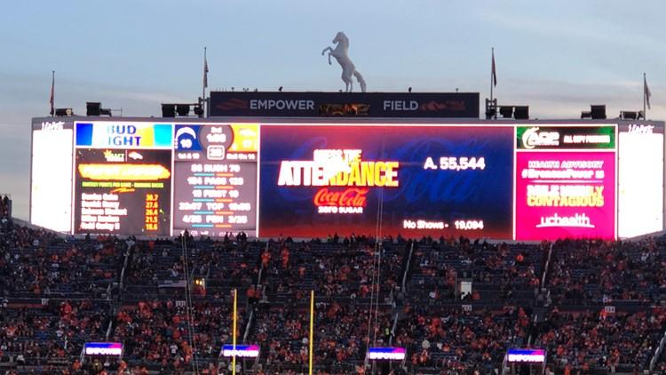 Broncos 19,000 no shows