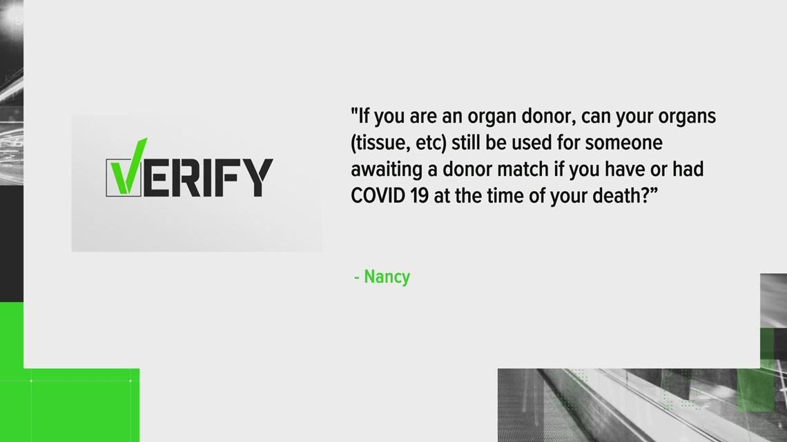 Verify: Can an organ donor who died of COVID-19 still donate?