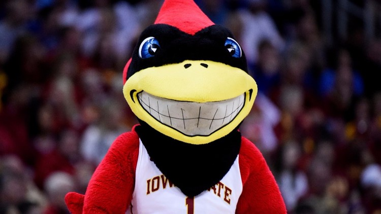 Cy -- the Iowa State mascot ( Photo by Ed Zurga/Getty Images)