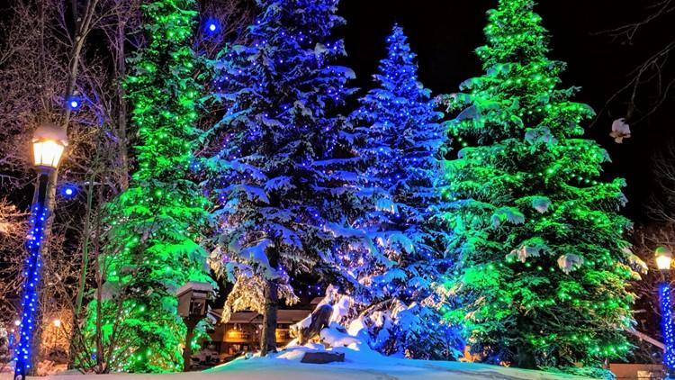Estes Park Christmas tree lights holidays