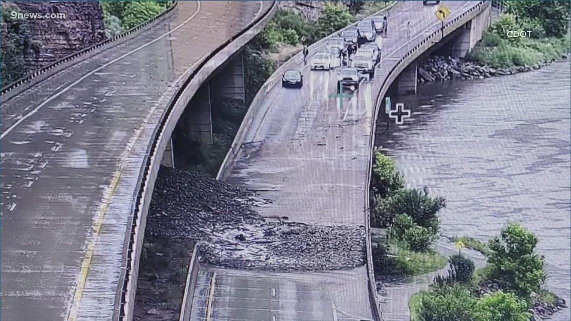 Mudslides cause another closure on I-70 through Glenwood Canyon