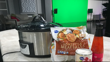 Kylie's super easy slow cooker meatballs