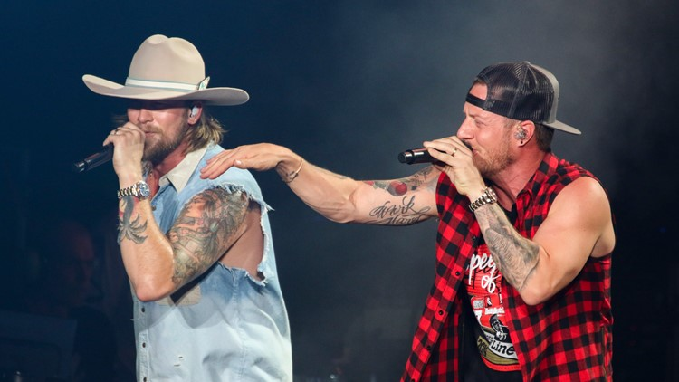 Brian Kelley and Tyler Hubbard with Florida Georgia Line
