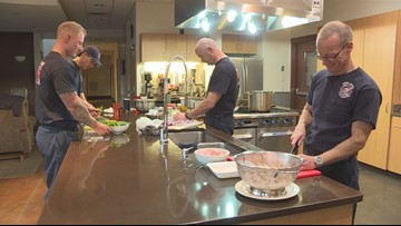 This Colorado firehouse shares their 'family' pasta dinner