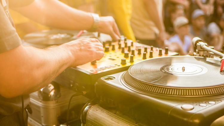 summer music concert festival   dj play music summer party