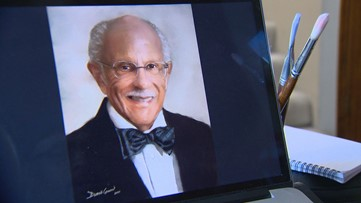 Local artist creates 100 portraits to give thanks