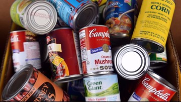 Where does the food you donate to 9Cares Colorado Shares go?