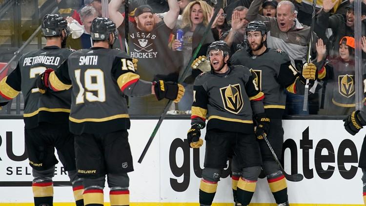 Golden Knights blast Avalanche, tie playoff series in Game 4