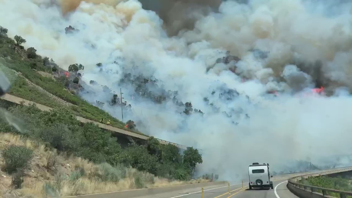 Fire 9news.com Grizzly in   burning Creek Canyon Glenwood