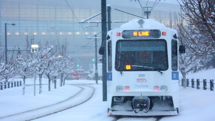 RTD advierte sobre posibles retrasos ante las fuertes nevadas durante el fin de semana