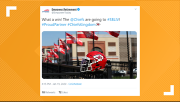 Broncos fans had some thoughts after Empower Retirement tweeted support for the Chiefs
