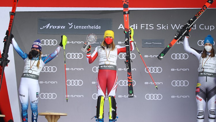 Slovakian Petra Vlhova wins skiing's World Cup overall title